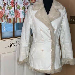 Vintage Wilson's leather coat faux fur lining sz S